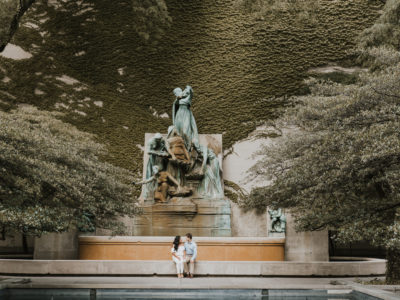 Trevor + Val: Downtown Chicago Engagement Session